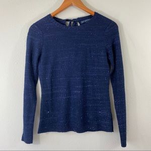 Brooks brothers outlet navy sweater w/sequins